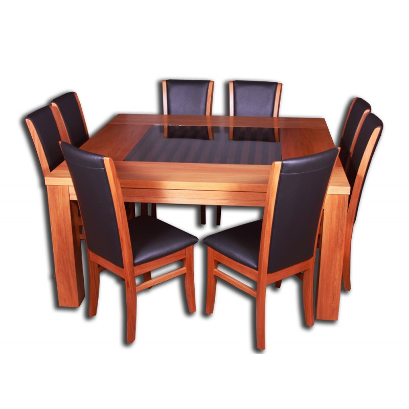 Hibiscus 8 Chairs And Acacia Dining Table