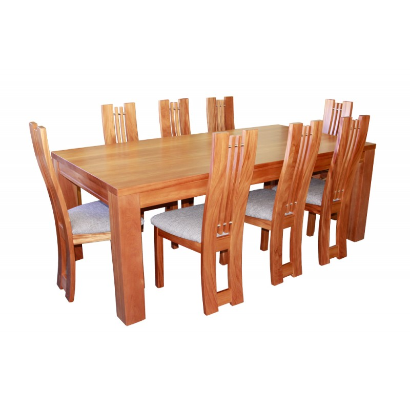 Zahara 8 Chairs And Dining Table